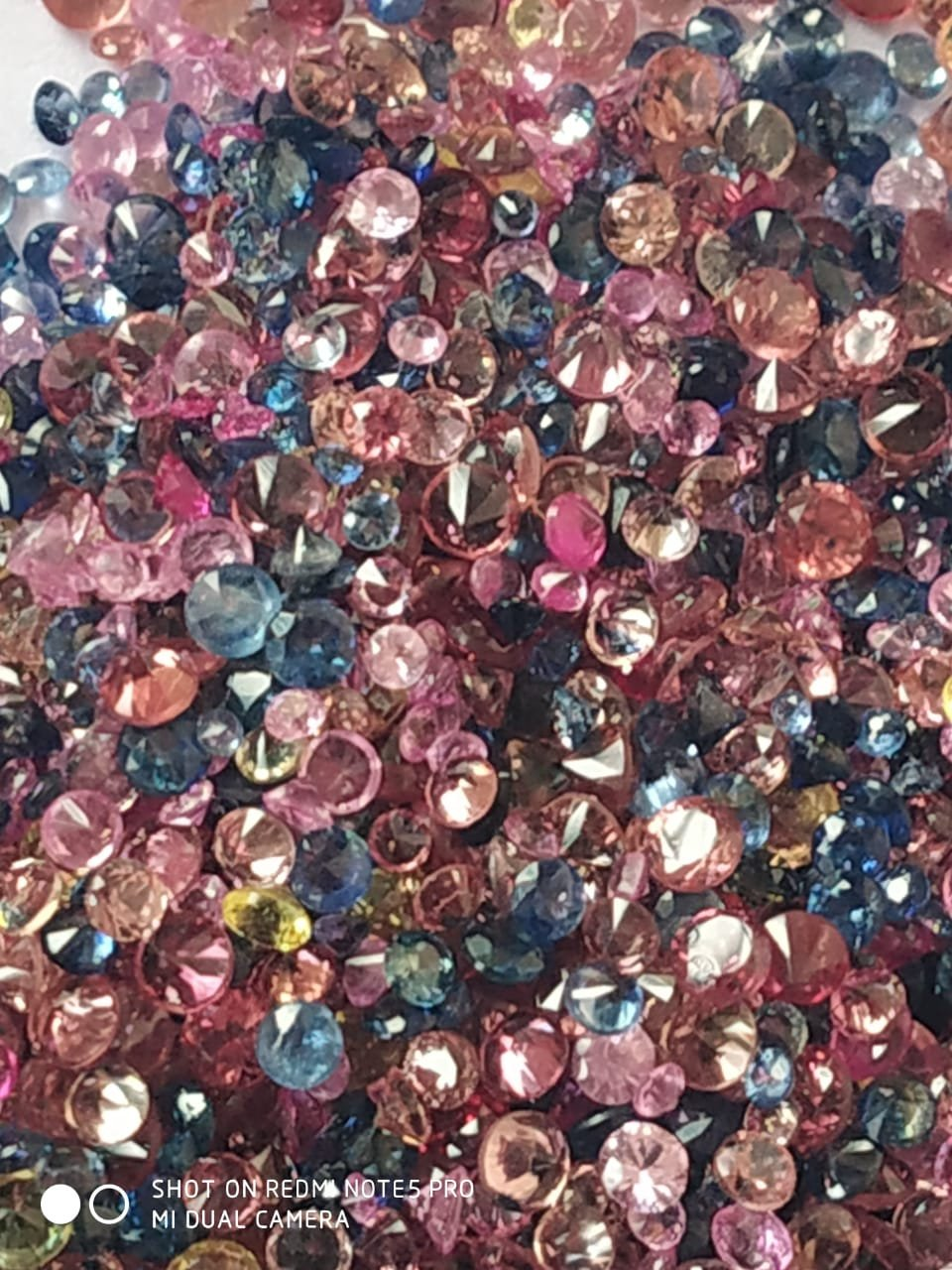 Natural Sapphire Mix color lot - 0.1 to 1.3 mm Size Round diamond Cut- 30.0carat